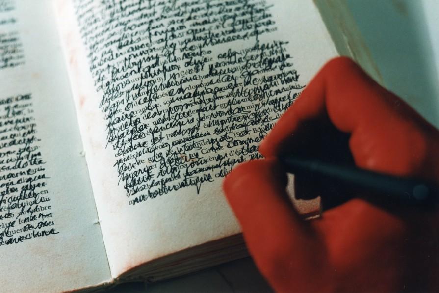 Écrire sur un autre - Super-8 - 3'30 - 2002