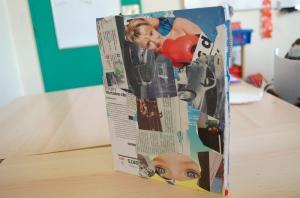 Atelier avec le CNEAI sur le détournement de manuels scolaires - école Léo Lagrange, Sartrouville