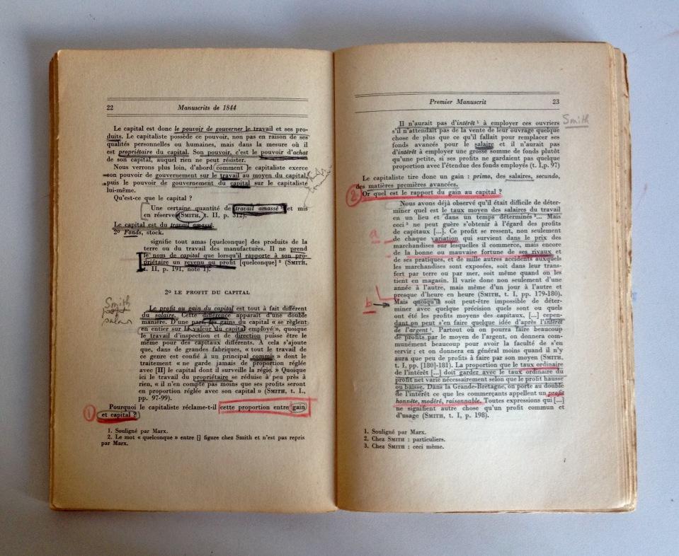 Les manuscrits de lecteurs - Marx
