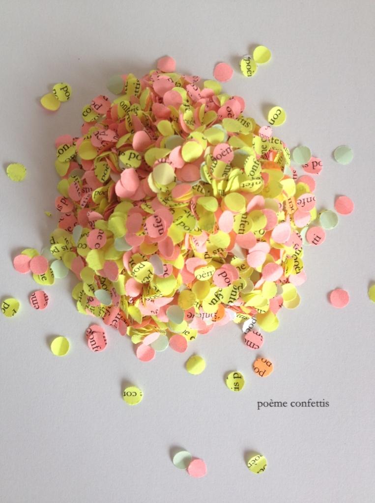 poème confettis, exposition RIKIKI